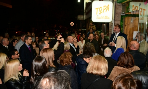Έκλεισε η Δημητρακοπούλου στα εγκαίνια του εκλογικού κέντρου του Λάζαρου Λασκαρίδη